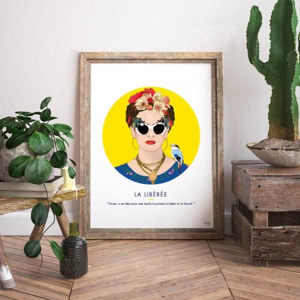Affiche Frida Kahlo Jaune