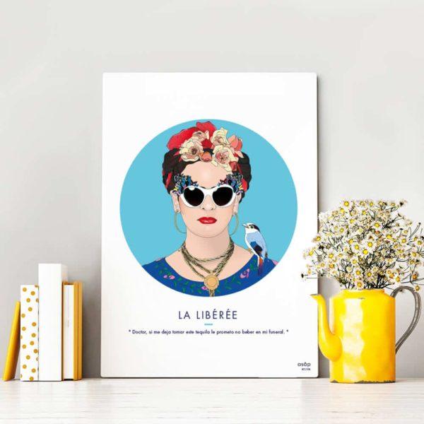 Affiche Frida Kahlo Bleu