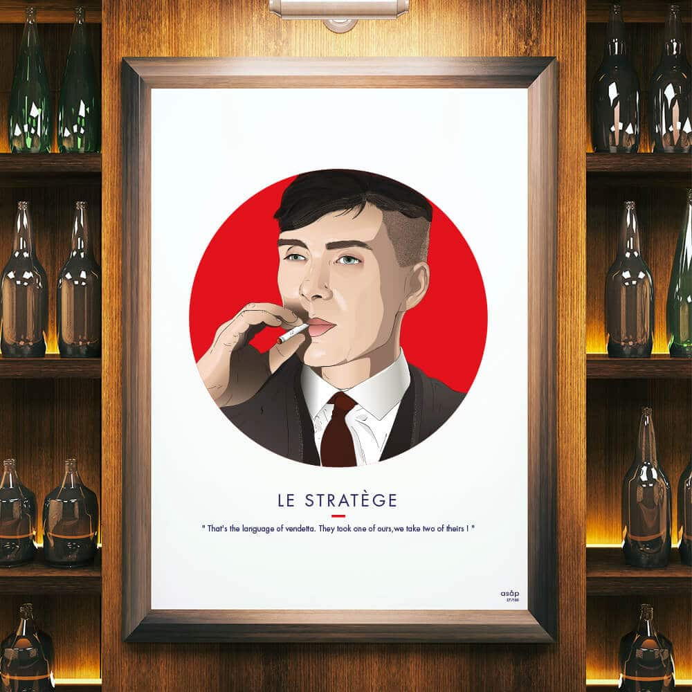 Affiche ASAP Thomas Shelby Rouge