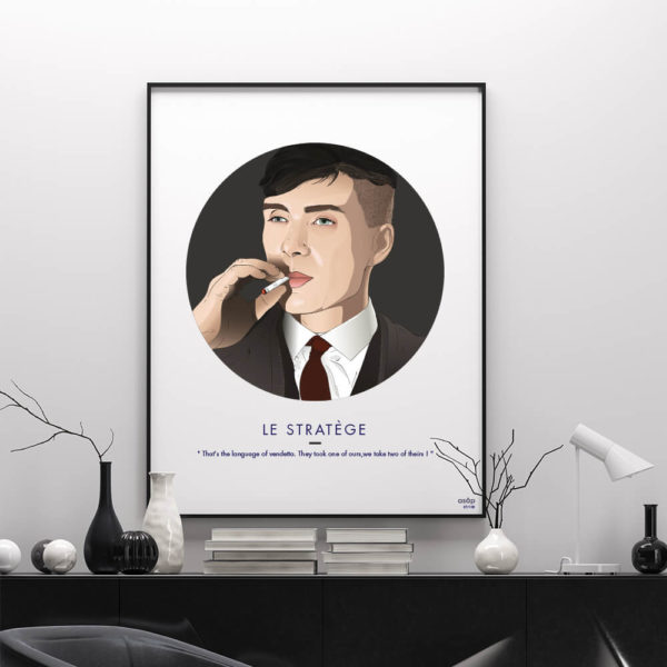 Affiche ASAP Thomas Shelby Gris