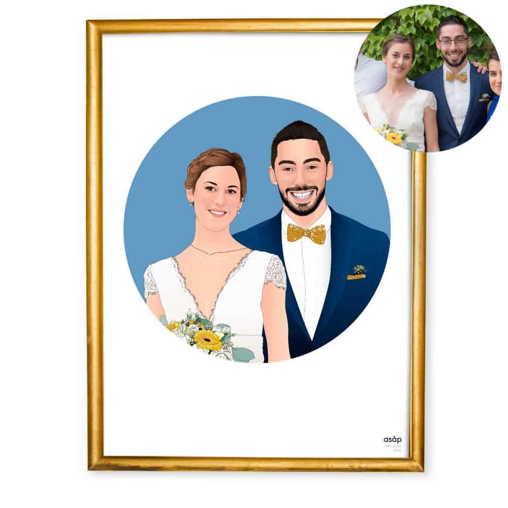 Portrait personnalisé mariage
