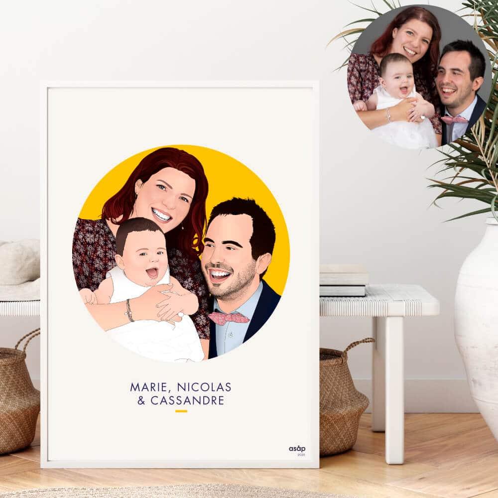 Portrait personnalisé famille
