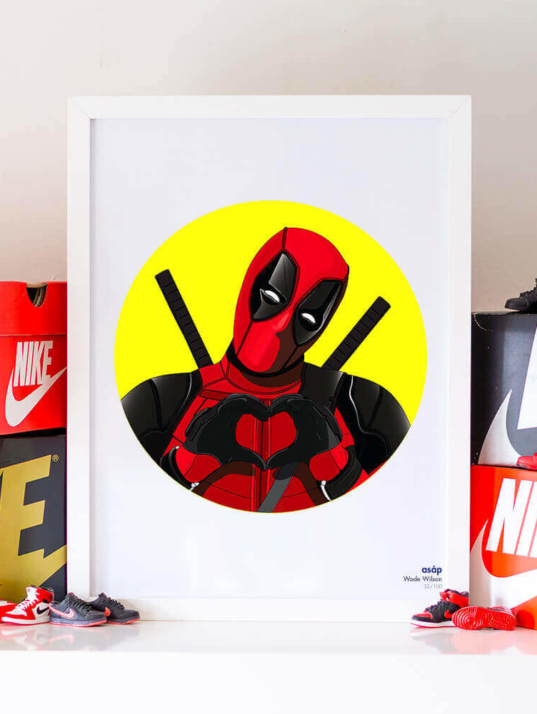 Décoration asap Deadpool pur jaune