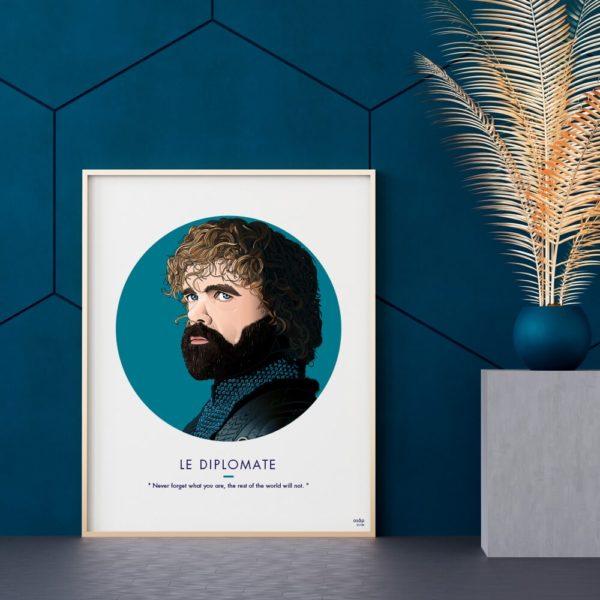 Affiche ASAP Tyrion Lannister Bleu
