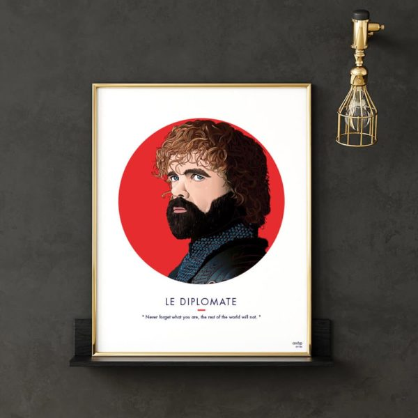 Affiche ASAP Tyrion Lannister Rouge