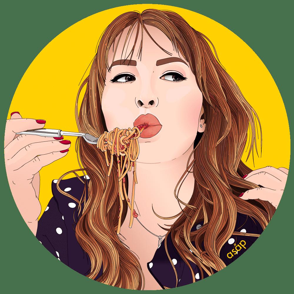 Portrait personnalisé asap illustration