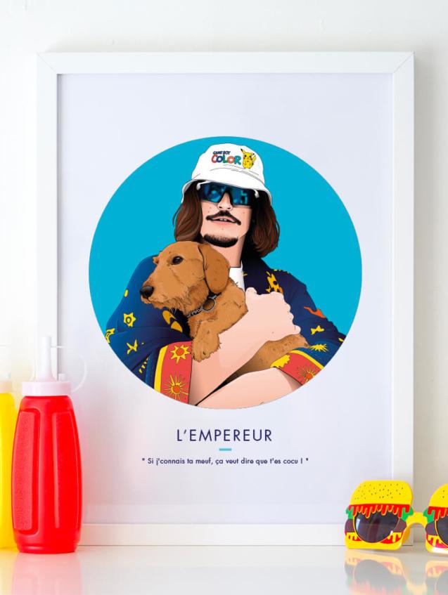 Affiche ASAP Lorenzo rappeur Bleu