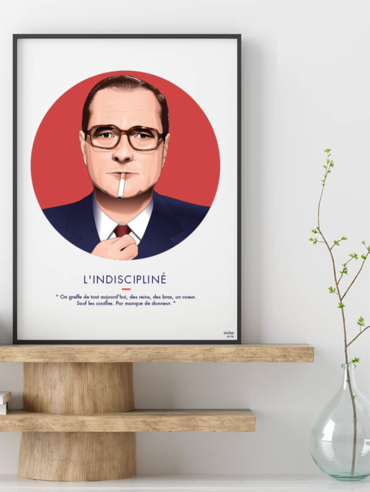 Affiche ASAP Jacques Chirac Rouge