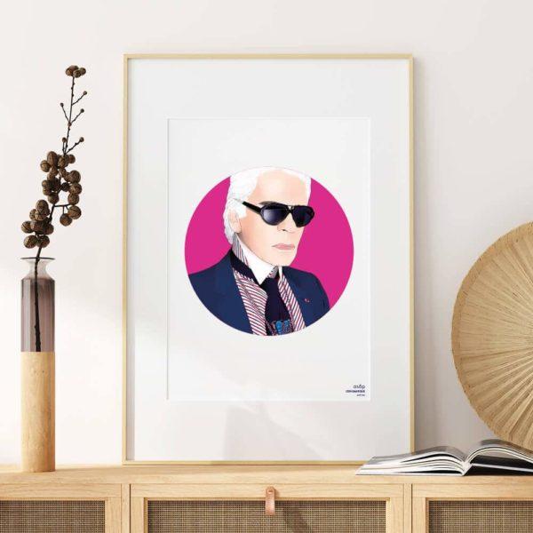 Affiche ASAP Karl Lagerfeld Fuchsia