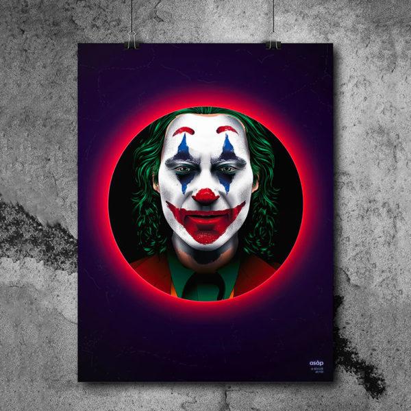 Affiche ASAP Le Joker film 2019 néon