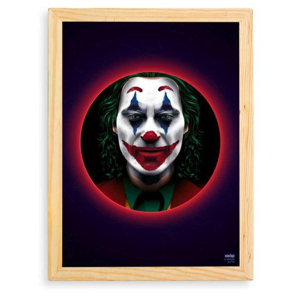 Affiche Le Joker Film 2019 Néon avec cadre