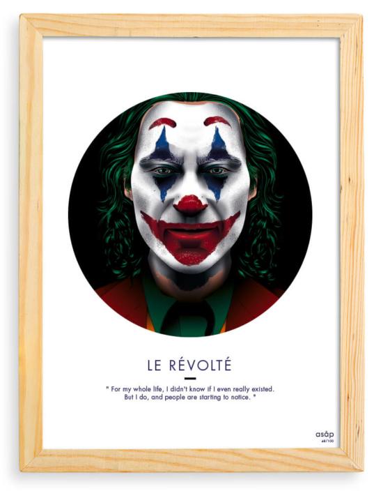 Affiche ASAP Le Joker Film 2019 Noir Cadre brut