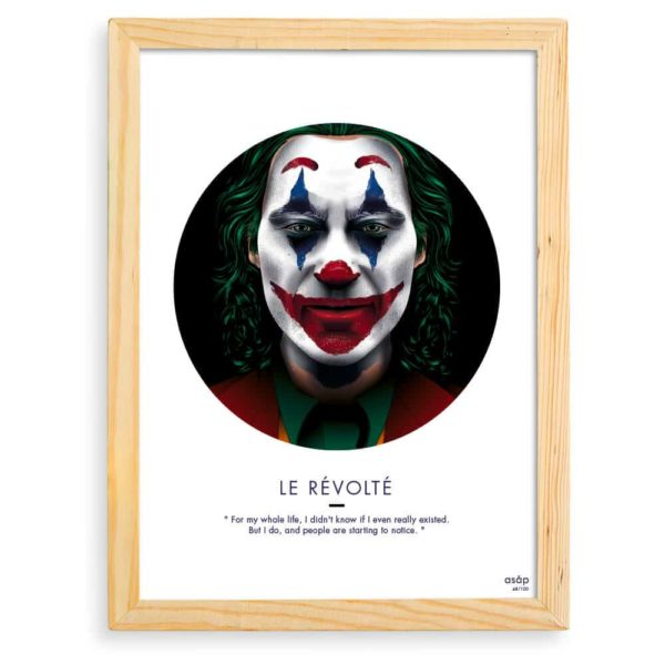 Affiche Le Joker Film 2019 Noir avec cadre