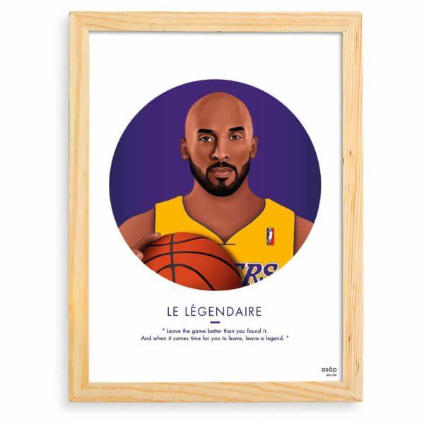 Affiche ASAP Kobe Bryant Violet Citation Cadre brut