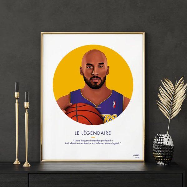 Affiche ASAP Kobe Bryant Jaune
