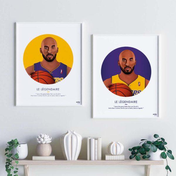 Affiches ASAP Kobe Bryant Jaune et Violet