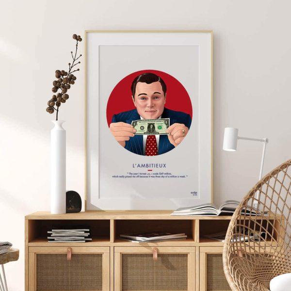 Affiche ASAP Loup de Wall Street Rouge