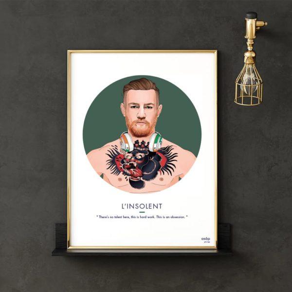 Affiche Conor McGregor MMA UFC Vert