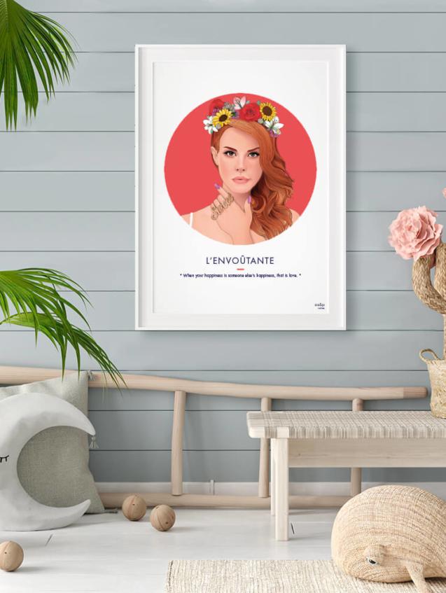Affiche ASAP Lana Del Rey Rouge