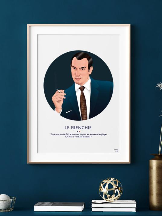 Affiche ASAP OSS 117 Jean Dujardin Gris