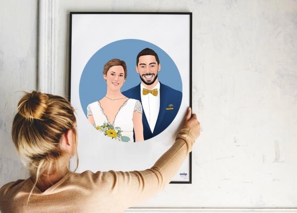 Affiche ASAP personnalisé mariés