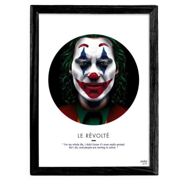 Affiche ASAP Le Joker Film 2019 Noir Cadre noir